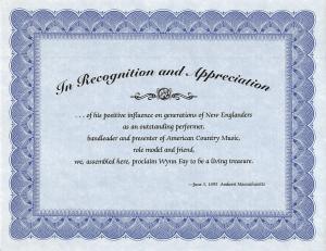 1995-06-03-Wynn Fay certificate