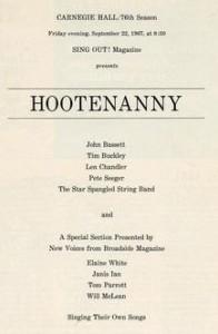 Carnegie Hall - Hootenany - Mag Ad-1967