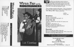 Wynn Fay and the Ridgerunners-Live Recordings-cassette cover