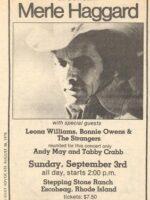 Merle Haggard show ad