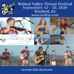 Andy May's Acoustic Kids poster: Virtual Walnut Valley Festival 48.5